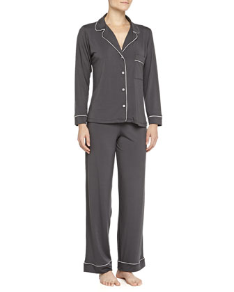 Gisele Long Pajama Set, Graphite