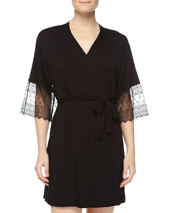 Papyrus Short Slip Dress & Papyrus Short Robe