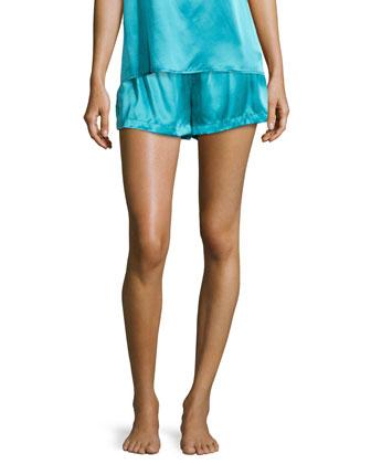 Studio Dolce Silk Shorts, Green