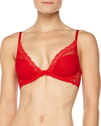 Feathers Contour Plunge Bra, Russian Red