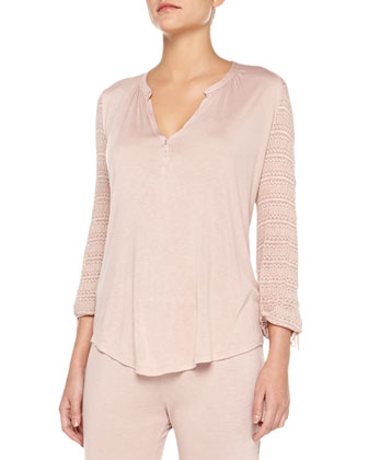 Rosette Lounge Peasant Top