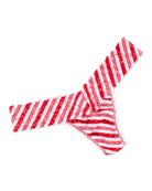 Peppermint Stripe Low-Rise Thong, Red/White