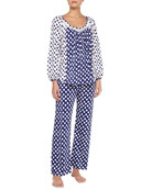 Ocean Breeze Pima Cotton Pajama Set, Blue/White