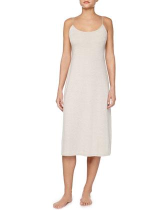 Shangri-La Jersey Tank Gown & Long Robe, Cashmere