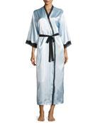 Elegant Lace Charmeuse Long Robe