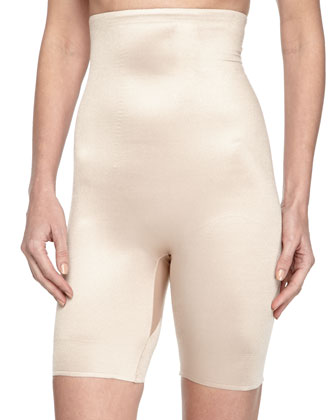High-Rise Mid-Thigh Shaper, Nude