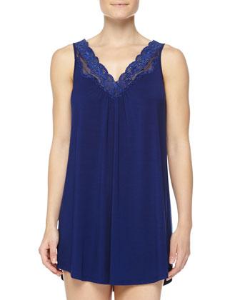 Delicate Lace Short Chemise & Delicate Lace Wrap Robe