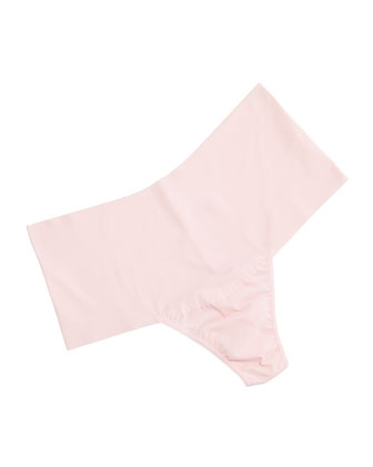 BARE Godiva Retro High-Rise Thong, Light Pink