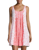 Floral-Print Short Gown