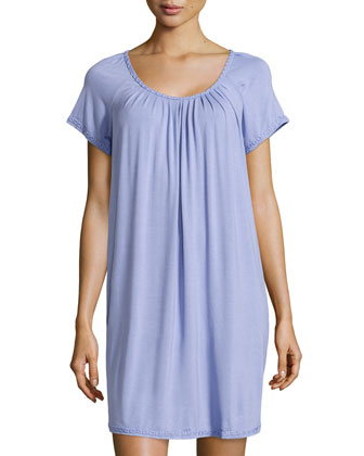 Elegance Jersey Short Nightgown, Wisteria