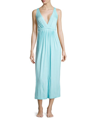 Sleeveless Stretch Long Gown