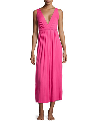 Sleeveless Stretch Modal Long Gown
