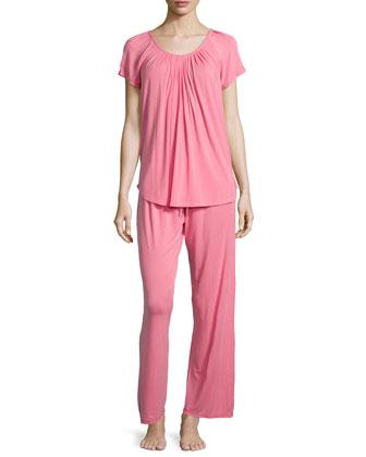Essential Luxuries Modal Jersey Pajama Set