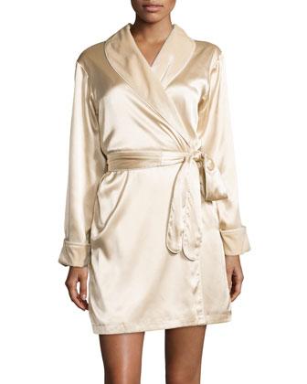Simply Elegant Short Satin Robe