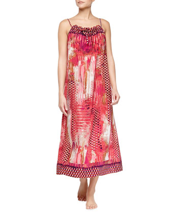 Arabian Sunset Printed Long Gown