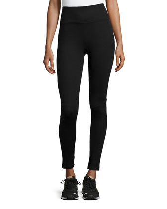 Ready-to-Wow Moto Leggings, Black