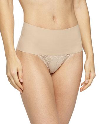 Undie-Tectable?? High-Waist Lace Thong