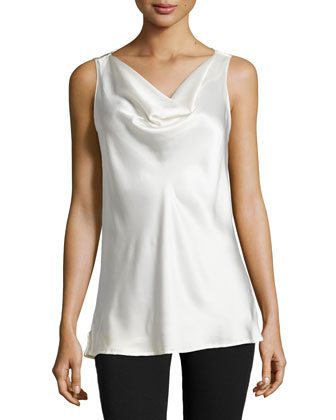 Allure Cowl-Neck Tank, Warm White