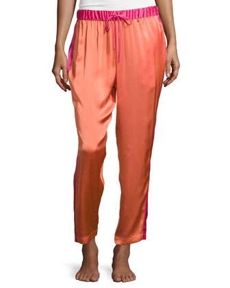 Key Colorblock Crop Pants, Coral Reef