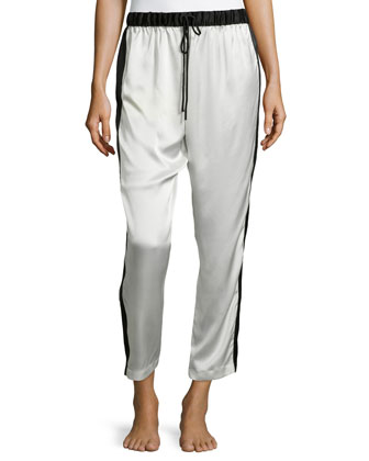 Key Colorblock Crop Pants, Oyster
