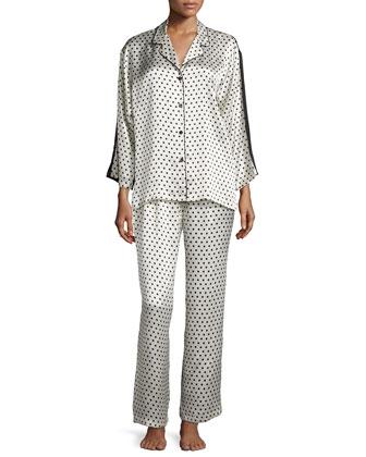 Polka-Dots Pajama Set, Ivory