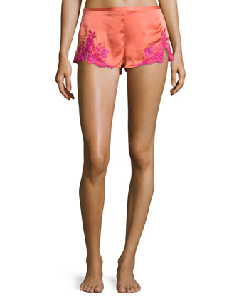 Lillian Lace Shorts, Coral Reef