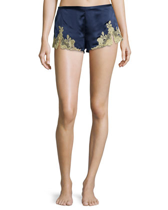 Lillian Lace Shorts, Midnight Navy