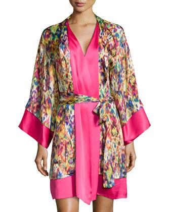 Ari Printed Wrap Robe, Multi
