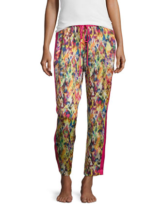 Ari Printed Crop Pants, Multi