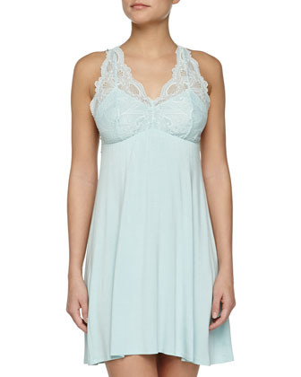 Take Me Away Short Robe & Belle Epoque Galloon-Lace Chemise