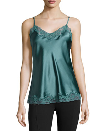 Ruby Snoozing Lace-Trim Camisole, Teal