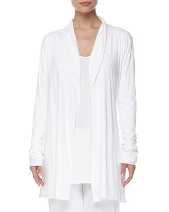 Cotton Ribbed V-Neck Tunic, Double Layer Pants & Cotton Wrap Robe