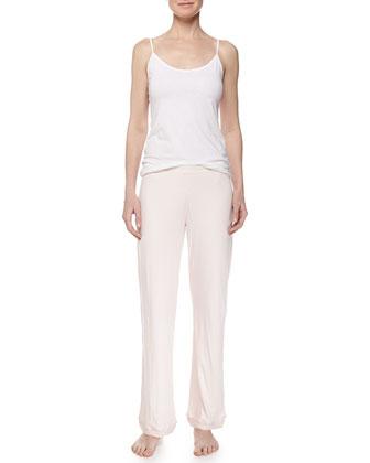 Double-Layer Organic Pants, Shell/White