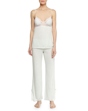 Paloma Lace-Trim Jersey Camisole