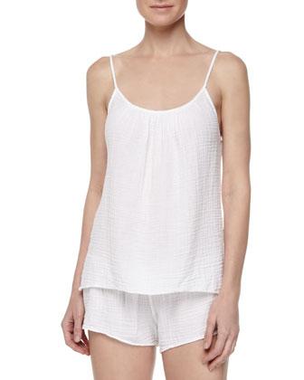 Shaw Cotton Gauze Shorts, White