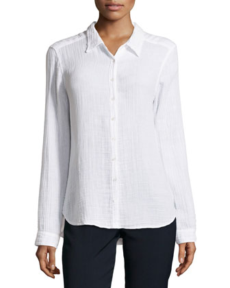 Scout Double Gauze Shirt, White