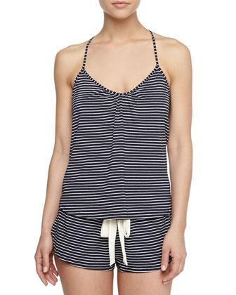 Dockside Striped Racerback Camisole & Lounge Shorts