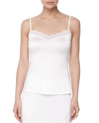 Capri Lace-Trimmed Camisole & Half Slip, Off-White
