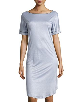 Portofino Short-Sleeve Gown, Blue