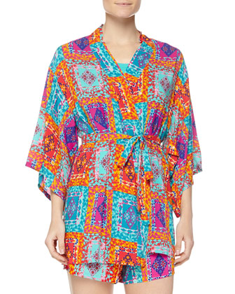 Avventura Printed Happi Coat, Multicolor