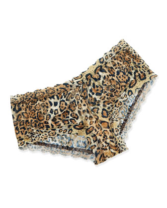 Leopard-Print Signature Lace Boyshorts