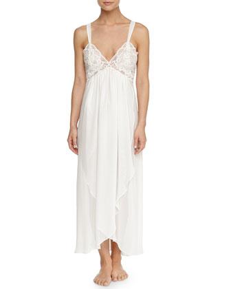 Tessa Chiffon Long Gown, Ivory