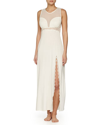 Ever After Long Robe & Lace Gown, Ivory