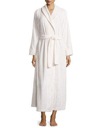 Long Plush Comfort Robe, Oyster