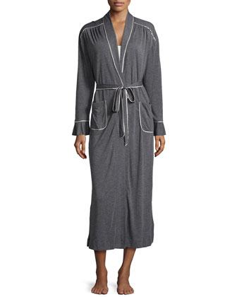 Quintessential Classic Wrap Robe, Dark Gray