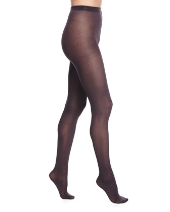 Amara Tights with Opaque Check