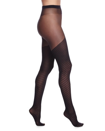 Laisa Faux Thigh-High Tights, Black