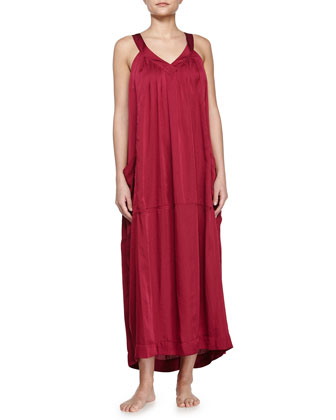 Laundered Long Gown, Ruby