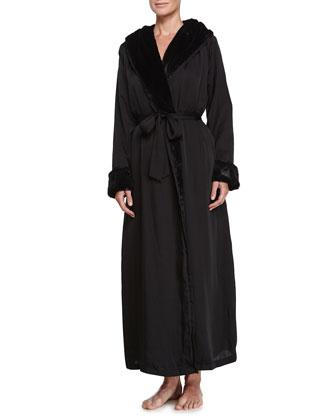 Laundered Long Robe, Black