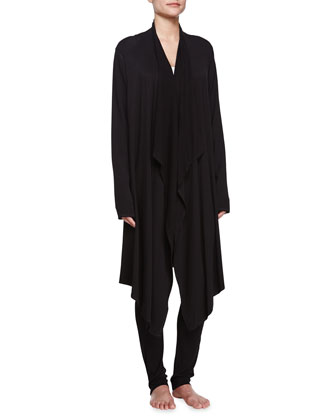 Draped Lounge Cardigan, Black